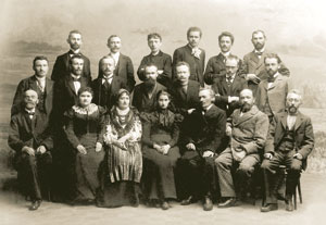 Діячі НТШ на урочистостях відкриття пам'ятника І.Котляревському в Полтаві. 1903 р.