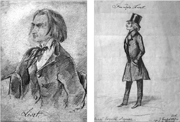Портретні зображення Ференца Ліста у виконанні Юліуша Коссака. Львів, 1847 р.