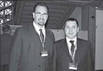 У перерві між засіданнями. Зліва направо: Андрей Лужницький і посол України у Швайцарії Ігор Дір
