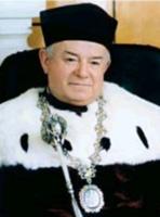 Михайло Павловський у багатовіковій мантії Ректора
