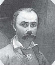 Тарас Шевченко. Автопортрет.— Оренбург, 29 листопада 1849 р.