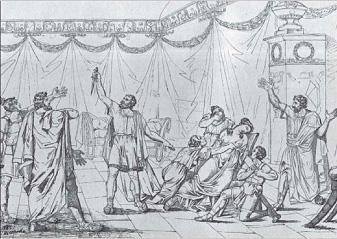 Тарас Шевченко. Смерть Лукреції. Папір, туш. 1835 р.