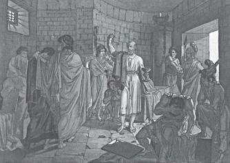 Тарас Шевченко. Смерть Сократа. Папір, туш. 1837 р.