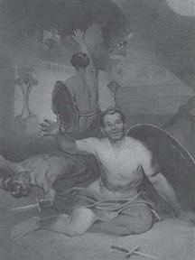 Тарас Шевченко. Умираючий гладіатор. Папір, сепія. Літо 1856 р.