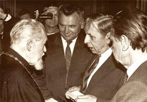 Візит кардинала М.Любачівського до відновленого НТШ у Львові. 2 травня 1991 р.